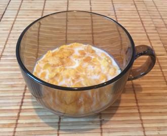 Corn flakes breakfast 2